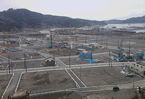 岩手県大槌町の「中心街」の現在の様子(1)