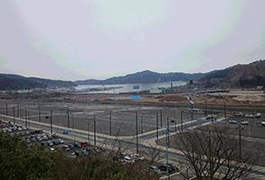 岩手県大槌町の「中心街」の現在の様子(2)